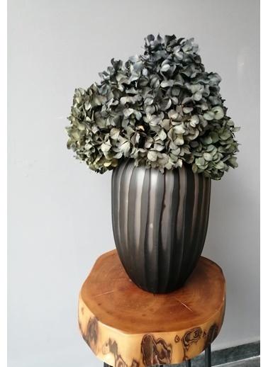 Kuru Çiçek Deposu Solmayan Gerçek Ortanca Buketi Gri 4-5 Adet , Kuru Çiçek Gri